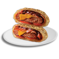 Beef BBQ Pizza Burger