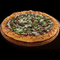 vegan sausage pizza